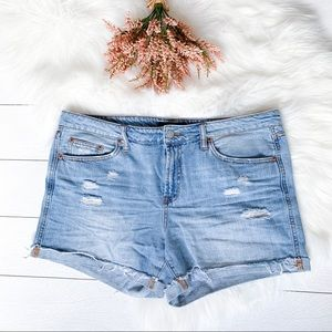 "Aeropostale ""tomboy"" distressed jean shorts"